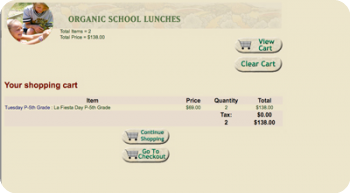 organic school lunches